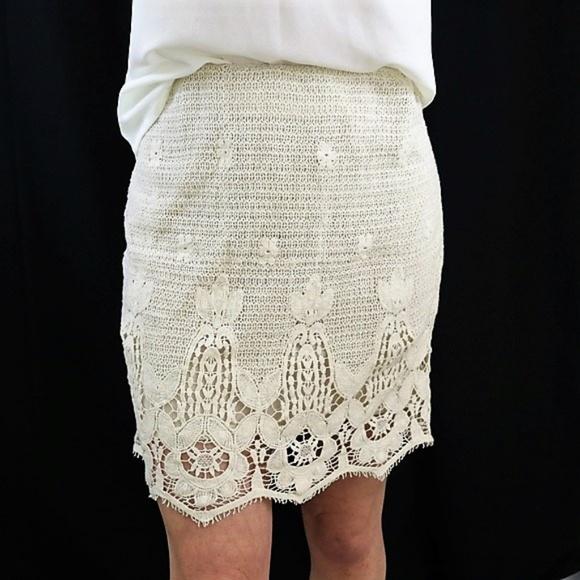 523821c70e Wayf Skirts | Lace Skirt Medium B9 | Poshmark
